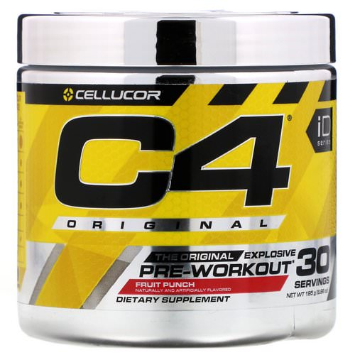 Cellucor, C4 Original Explosive, Pre-Workout, Fruit Punch, 6.88 oz (195 g) Review