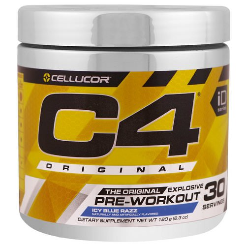 Cellucor, C4 Original Explosive, Pre-Workout, Icy Blue Razz, 6.3 oz (180 g) Review