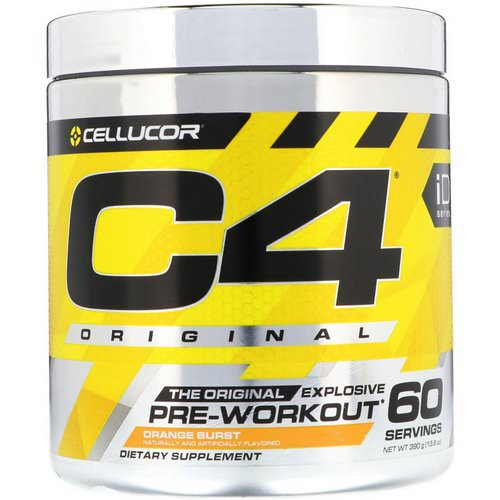 Cellucor, C4 Original Explosive, Pre-Workout, Orange Burst, 13.8 oz (390 g) Review