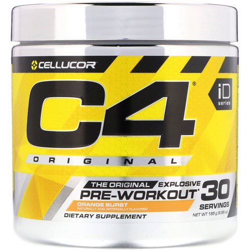 Cellucor, C4 Original Explosive, Pre-Workout, Orange Burst, 6.88 oz (195 g) Review