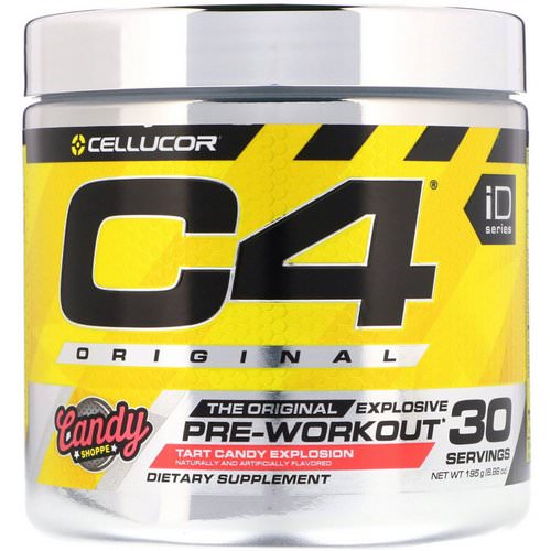 Cellucor, C4 Original Explosive, Pre-Workout, Tart Candy Explosion, 6.88 oz (195 g) Review