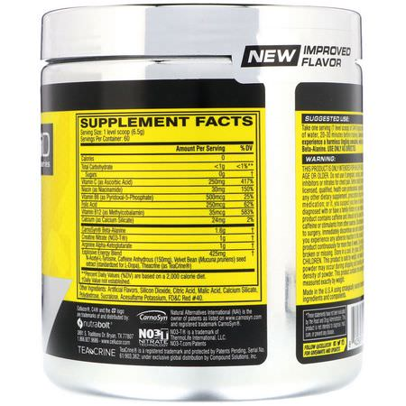 Beta Alanine, Amino Acids, Supplements, Caffeine, Stimulant, Pre-Workout Supplements, Sports Nutrition