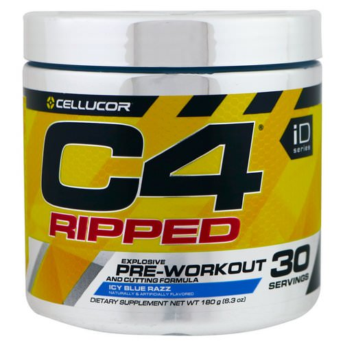 Cellucor, C4 Ripped, Pre-Workout, Icy Blue Razz, 6.3 oz (180 g) Review