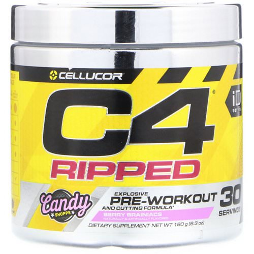Cellucor, C4 Ripped Pre-Workout, Berry Brainiacs, 6.3 oz (180 g) Review