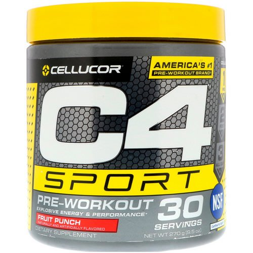 Cellucor, C4 Sport, Pre-Workout, Fruit Punch, 9.5 oz (270 g) Review
