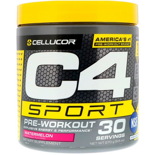 Cellucor, C4 Sport, Pre-Workout, Watermelon, 9.5 oz (270 g) Review