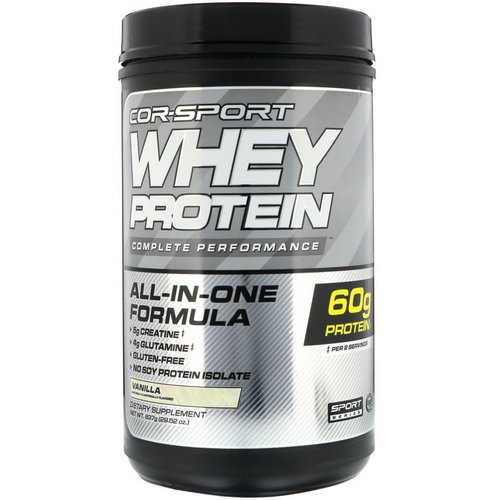 Cellucor, Whey Protein Complete Performance, Vanilla, 1.8 lbs (837 g) Review