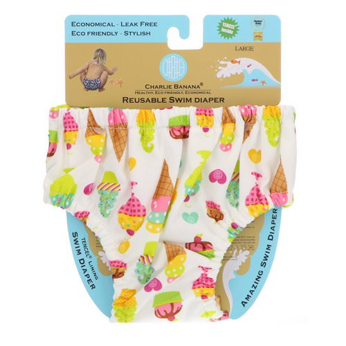 Charlie Banana, Reusable Swim Diaper, Gelato, Large, 1 Diaper Review