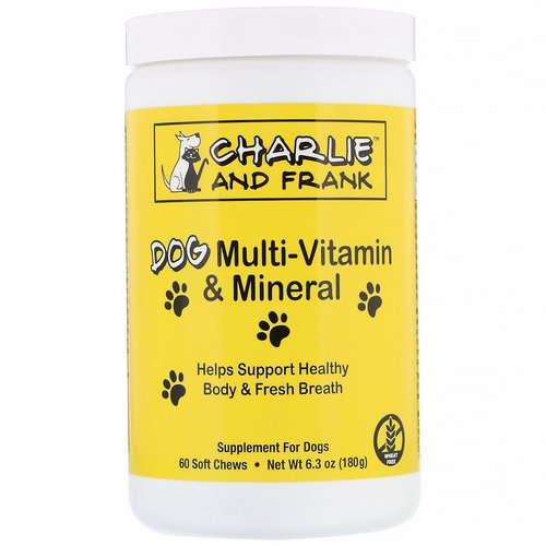 Charlie & Frank, Dog Multi-Vitamin & Mineral, Supports Fresh Breath, 60 Soft Chews Review