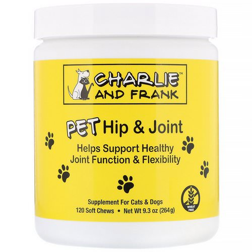 Charlie & Frank, PET Hip & Joint, For Cats & Dogs, 120 Soft Chews Review