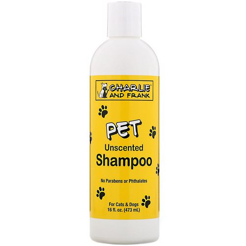Charlie & Frank, Pet Shampoo, Unscented, 16 fl oz (473 ml) Review