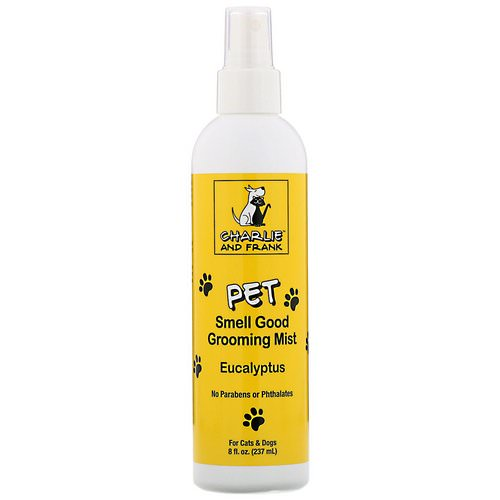 Charlie & Frank, Pet Smell Good Grooming Mist, Eucalyptus, 8 fl oz (237 ml) Review