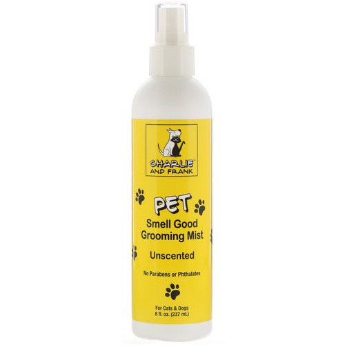 Charlie & Frank, Pet Smell Good Grooming Mist, Unscented, 8 fl oz (237 ml) Review