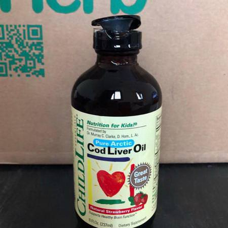 Cod Liver Oil, Natural Strawberry Flavor