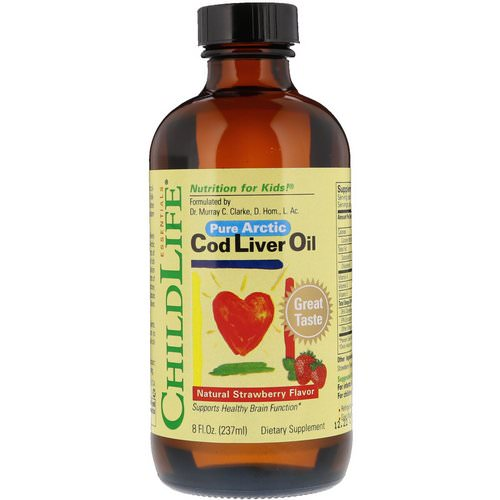 ChildLife, Cod Liver Oil, Natural Strawberry Flavor, 8 fl oz (237 ml) Review