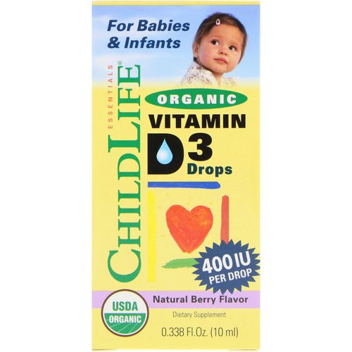 ChildLife, Organic Vitamin D3 Drops, Natural Berry Flavor, 400 IU, 0.338 fl oz (10 ml) Review