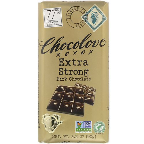 Chocolove, Extra Strong Dark Chocolate, 3.2 oz (90 g) Review