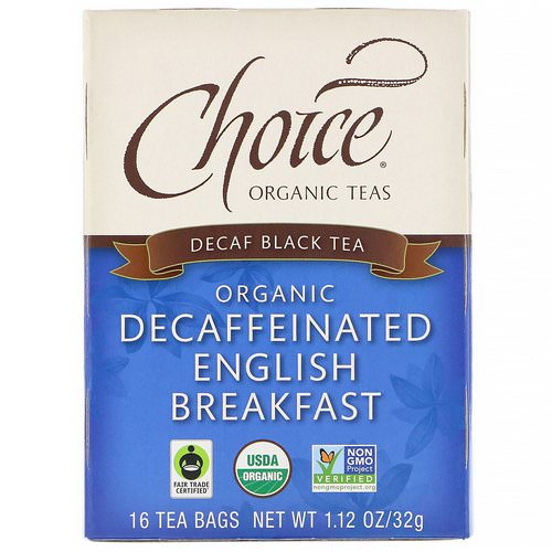 Choice Organic Teas, Organic Decaffeinated English Breakfast, Decaf Black Tea, 16 Tea Bags, 1.12 oz (32 g) Review