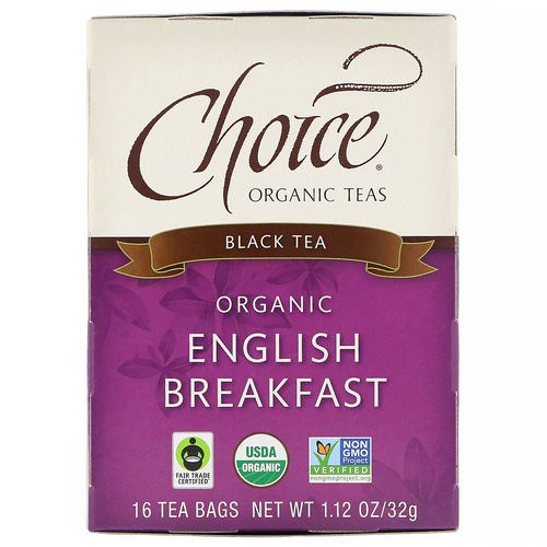 Choice Organic Teas, Organic, English Breakfast, Black Tea, 16 Tea Bags, 1.12 oz (32 g) Review