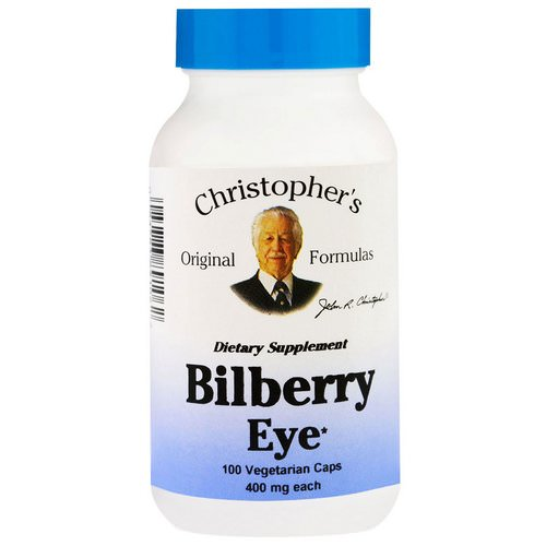 Christopher's Original Formulas, Bilberry Eye, 450 mg, 100 Veggie Caps Review