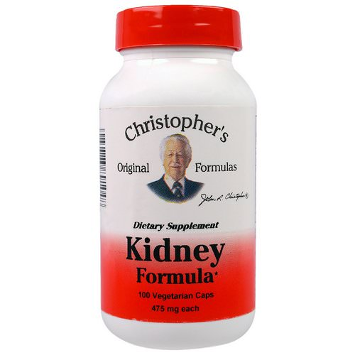 Christopher's Original Formulas, Kidney Formula, 475 mg, 100 Veggie Caps Review