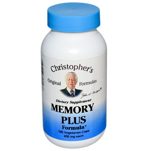 Christopher's Original Formulas, Memory Plus Formula, 450 mg, 100 Veggie Caps Review