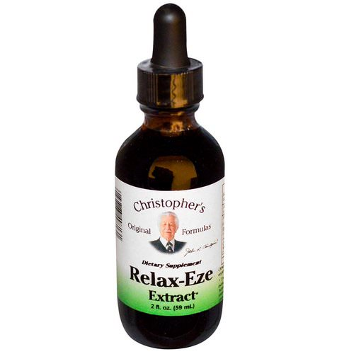 Christopher's Original Formulas, Relax-Eze Extract, 2 fl oz (59 ml) Review