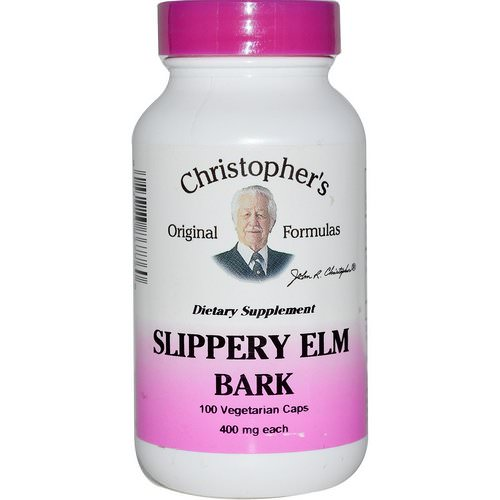 Christopher's Original Formulas, Slippery Elm Bark, 400 mg, 100 Veggie Caps Review