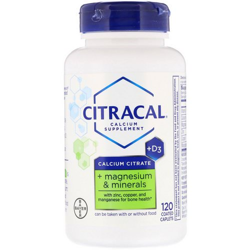 Citracal, Calcium Citrate, + Magnesium & Minerals, +D3, 120 Coated Caplets Review