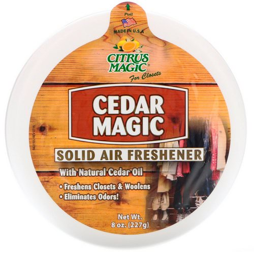 Citrus Magic, Cedar Magic, Solid Air Freshener, 8 oz (227 g) Review