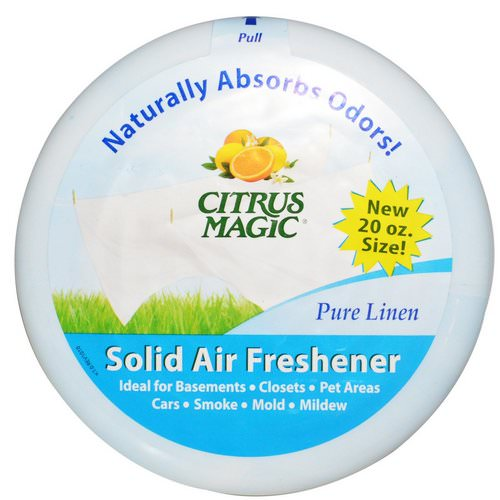 Citrus Magic, Solid Air Freshener, Pure Linen, 20 oz (566 g) Review