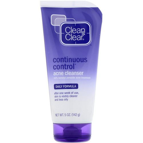 Clean & Clear, Continuous Control Acne Cleanser, Daily Formula, 5 oz (142 g) Review