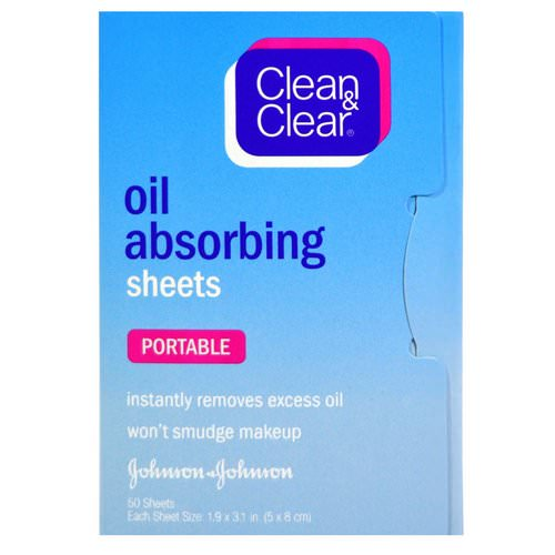 Clean & Clear, Oil Absorbing Sheets, Portable, 50 Sheets Review