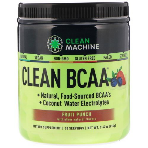 CLEAN MACHINE, Clean BCAA, Fruit Punch, 7.62 oz (216 g) Review