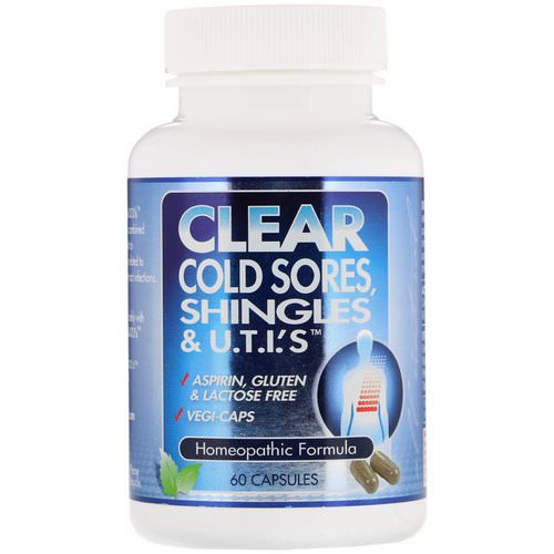 Clear Products, Clear Cold Sores, Shingles & U.T.I.'s, 60 Capsules Review
