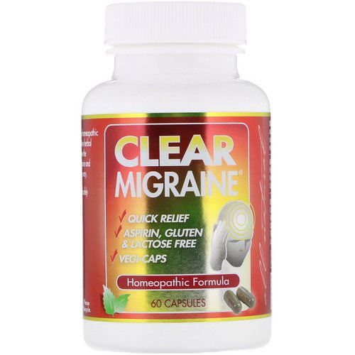 Clear Products, Clear Migraine, 60 Capsules Review