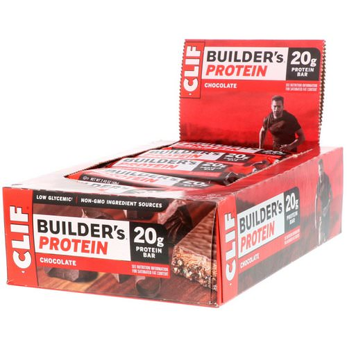 Clif Bar, Builder's Protein Bar, Chocolate, 12 Bars, 2.40 oz (68 g) Each Review
