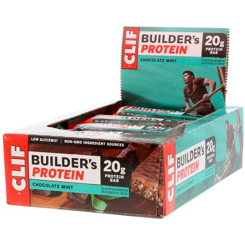 Clif Bar, Builder's Protein Bar, Chocolate Mint, 12 Bars, 2.40 oz (68 g) Each Review