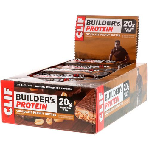 Clif Bar, Builder's Protein Bar, Chocolate Peanut Butter, 12 Bars, 2.4 oz (68 g) Each Review