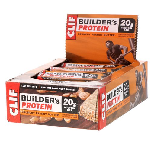 Clif Bar, Builder's Protein Bar, Crunchy Peanut Butter, 12 Bars, 2.4 oz (68 g) Each Review
