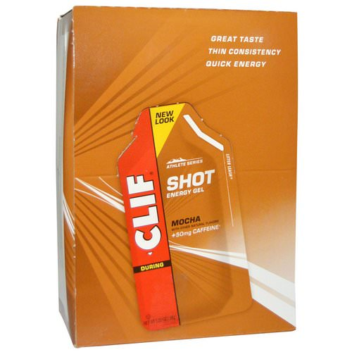 Clif Bar, Clif Shot Energy Gel, Mocha, +50 mg Caffeine, 24 Packets, 1.20 oz (34 g) Each Review