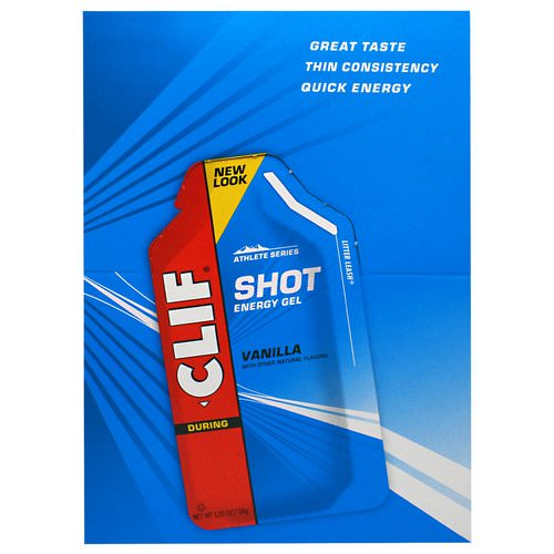 Clif Bar, Clif Shot Energy Gel, Vanilla, 24 Packets, 1.20 oz (34 g) Each Review