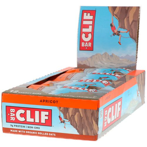 Clif Bar, Energy Bar, Apricot, 12 Bars, 2.40 oz (68 g) Each Review