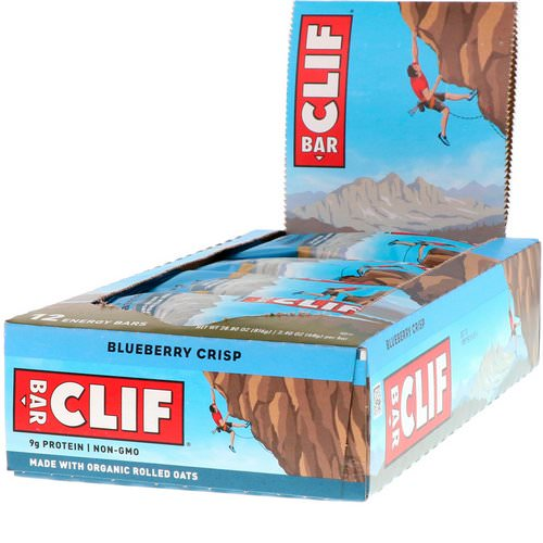 Clif Bar, Energy Bar, Blueberry Crisp, 12 Bars, 2.40 oz (68 g) Each Review