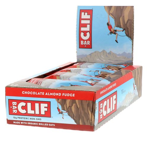 Clif Bar, Energy Bar, Chocolate Almond Fudge, 12 Bars, 2.40 oz (68 g) Each Review