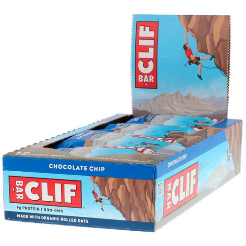 Clif Bar, Energy Bar, Chocolate Chip, 12 Bars, 2.40 oz (68 g) Each Review