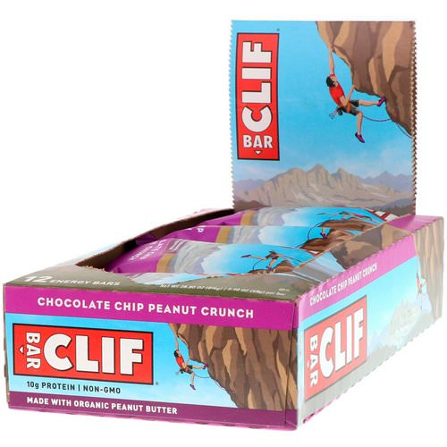 Clif Bar, Energy Bar, Chocolate Chip Peanut Crunch, 12 Bars, 2.40 oz (68 g) Each Review
