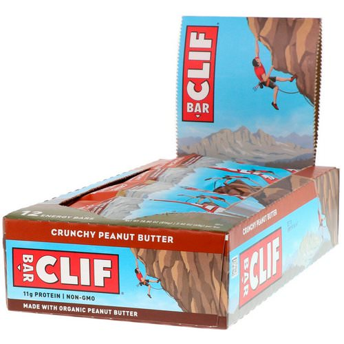 Clif Bar, Energy Bar, Crunchy Peanut Butter, 12 Bars, 2.40 oz (68 g) Each Review