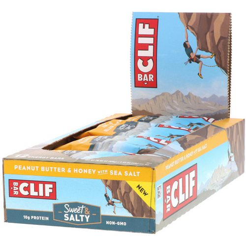 Clif Bar, Energy Bars, Peanut Butter & Honey with Sea Salt, 12 Bars, 2.40 oz (68 g) Each Review