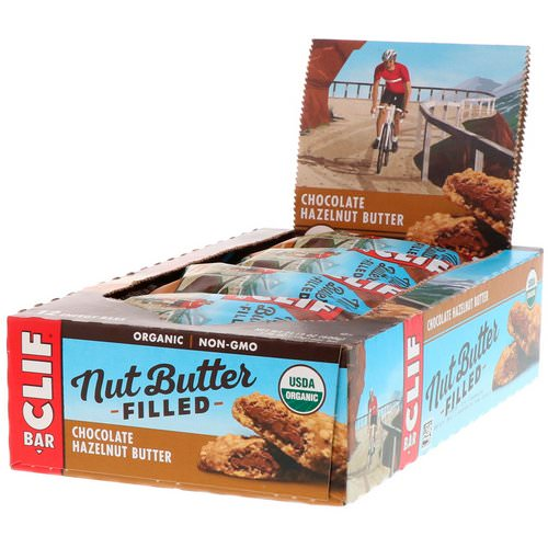 Clif Bar, Organic Nut Butter Filled Energy Bar, Chocolate Hazelnut Butter, 12 Energy Bars, 1.76 oz (50 g) Each Review